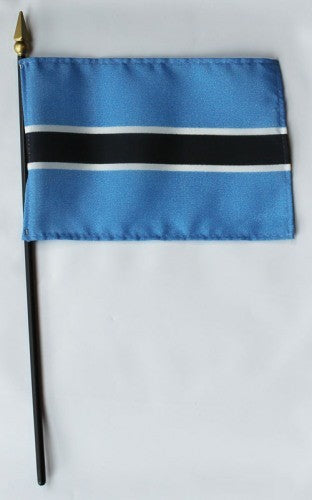 "Botswana 4"" x 6"" Mounted Country Flags"