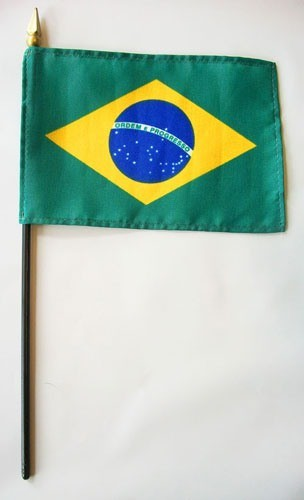 "Brazil 4"" x 6"" Mounted Country Flags"