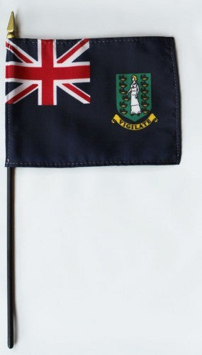 "British Virgin Islands 4"" x 6"" Mounted Territory Flags"