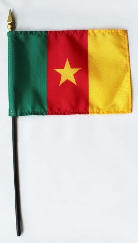 "Cameroon 4"" x 6"" Mounted Flags"