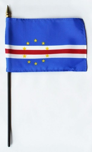"Cape Verde 4"" x 6"" Mounted Flags"