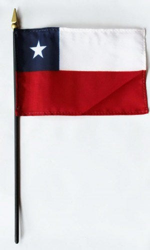"Chile 4"" x 6"" Mounted Flags"