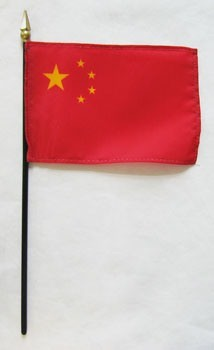 "China 4"" x 6"" Mounted Flags"