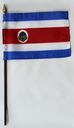 "Costa Rica 4"" x 6"" Mounted Flags"