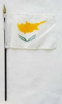 "Cyprus 4"" x 6"" Mounted Flags"
