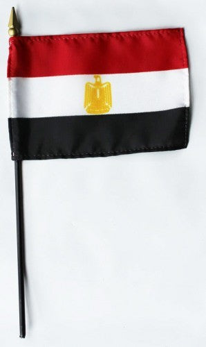 "Egypt 4"" x 6"" Mounted Flags"