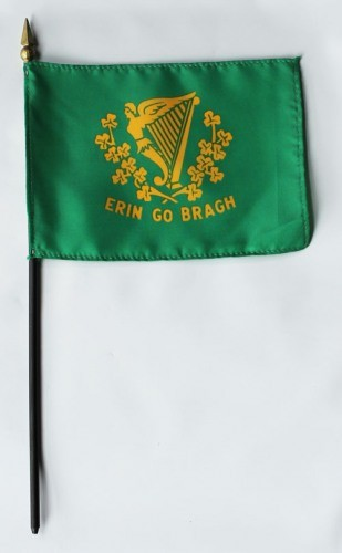 "Erin Go Bragh 4"" x 6"" Mounted Flags"