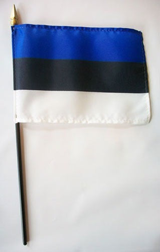 "Estonia 4"" x 6"" Mounted Flags"