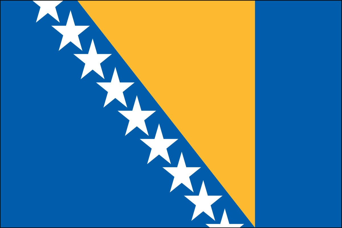 Bosnia-Herzegovina 2' x 3' Indoor Polyester Country Flag