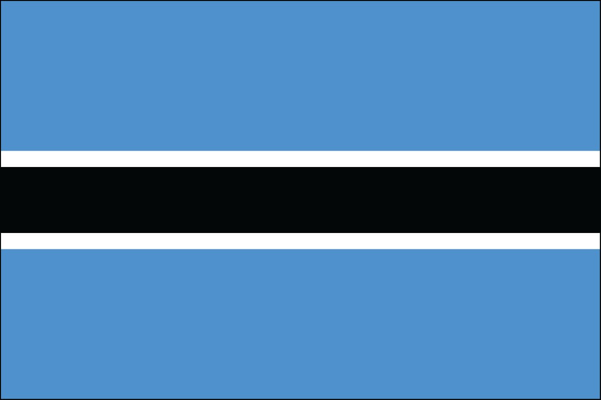 Botswana 2' x 3' Indoor Polyester Flag