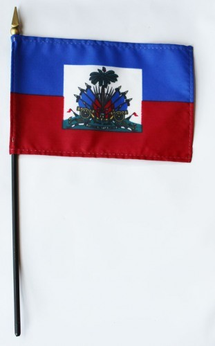 "Haiti 4"" x 6"" Mounted Flags"