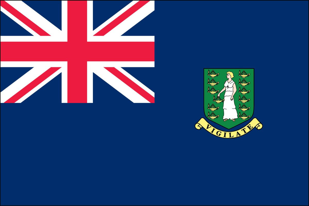 British Virgin Islands 2' x 3' Indoor Polyester Territory Flag