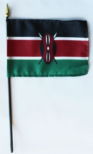 "Kenya 4"" x 6"" Mounted Flags"