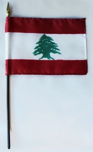 "Lebanon 4"" x 6"" Mounted Flags"