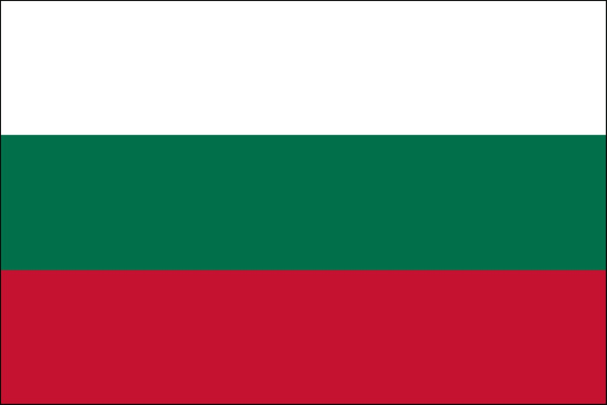 Bulgaria 2' x 3' Indoor Polyester Flag