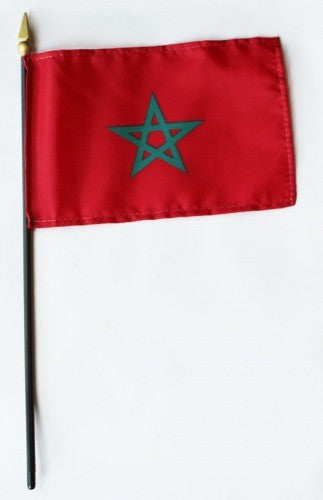 "Morocco 4"" x 6"" Mounted Flags"