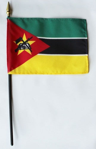 "Mozambique 4"" x 6"" Mounted Flags"
