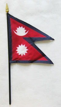"Nepal 4"" x 6"" Mounted Flags"