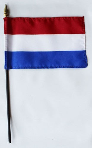 "Netherlands 4"" x 6"" Mounted Flags"