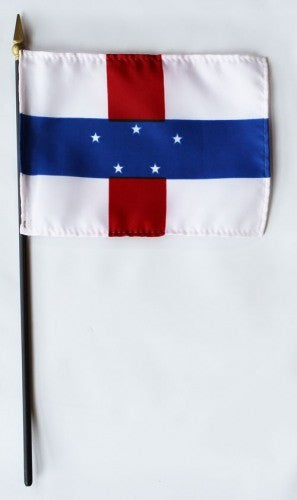 "Netherlands Antilles 4"" x 6"" Mounted Flags"