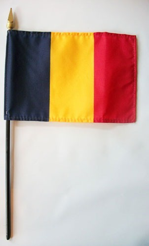 "Romania 4"" x 6"" Mounted Flags"