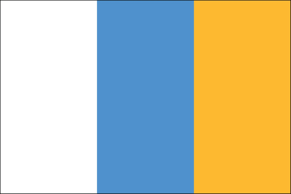 Canary Islands 2' x 3' Indoor Polyester Flag