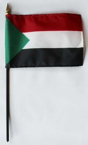 "South Sudan 4"" x 6"" Mounted Flags"