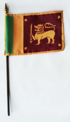 "Sri Lanka 4"" x 6"" Mounted Flags"