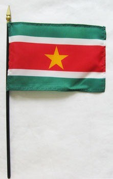 "Suriname 4"" x 6"" Mounted Flags"
