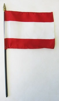 "Tahiti 4"" x 6"" Mounted Flags"