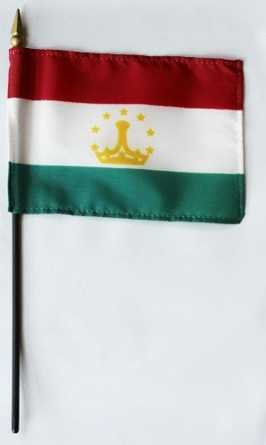 "Tajikistan 4"" x 6"" Mounted Flags"