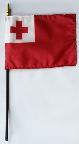 "Tonga 4"" x 6"" Mounted Flags"
