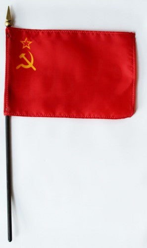 "USSR 4"" x 6"" Mounted Handheld Stick Flags"