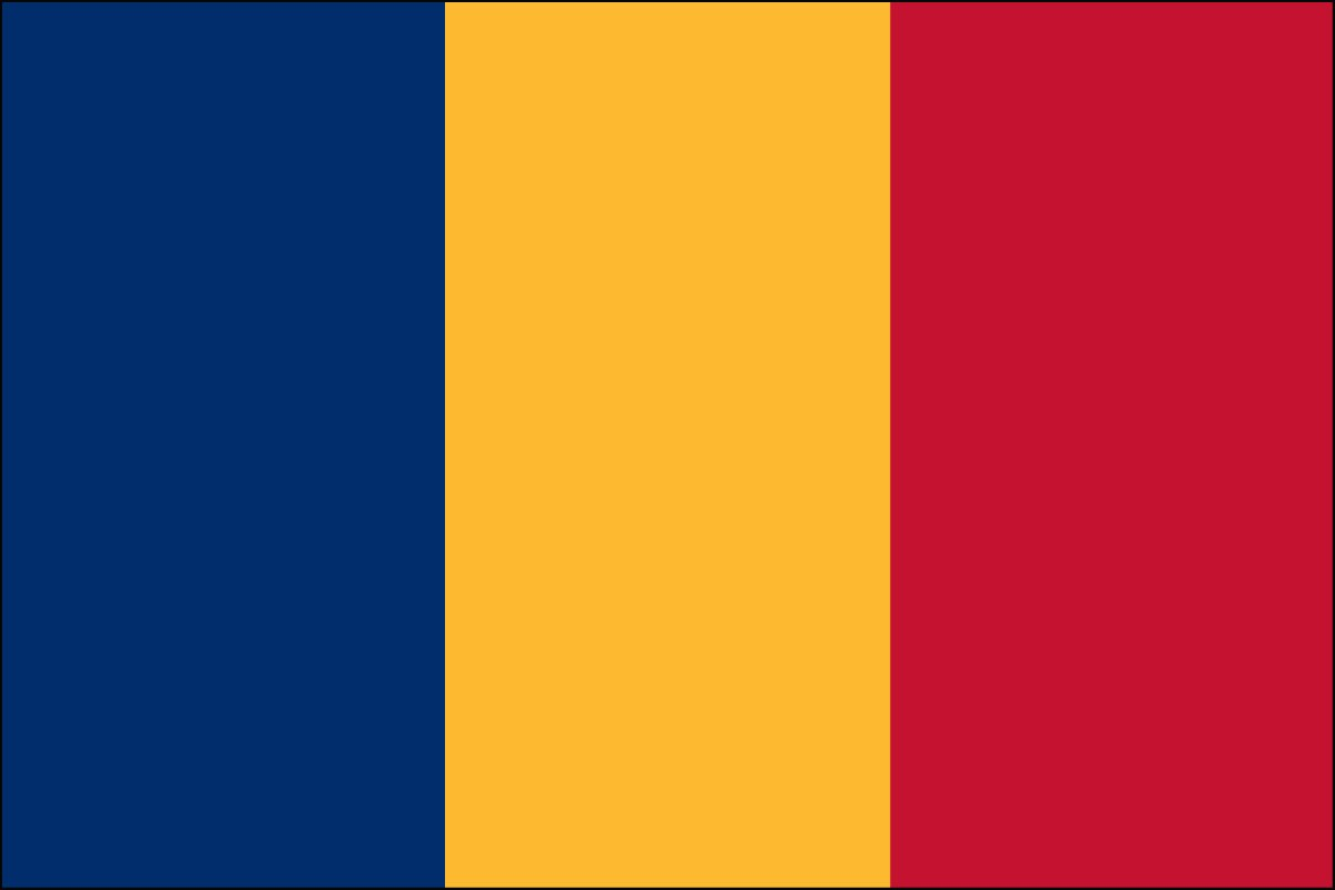 Chad 2' x 3' Indoor Polyester Flag