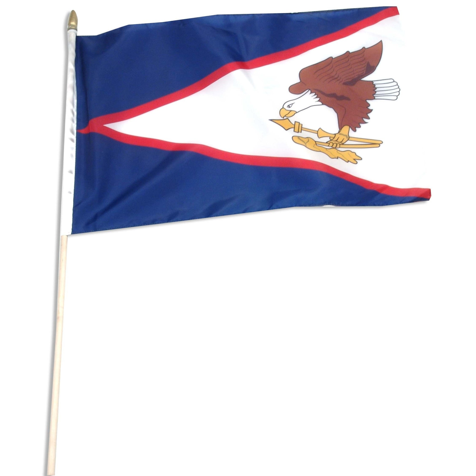 "American Samoa 12"" x 18"" Mounted Stick Flag"