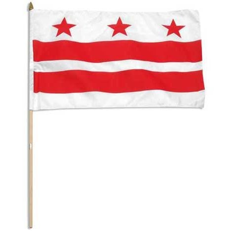 "District Of Columbia (Washington DC ) 12"" x 18"" Mounted Flag"