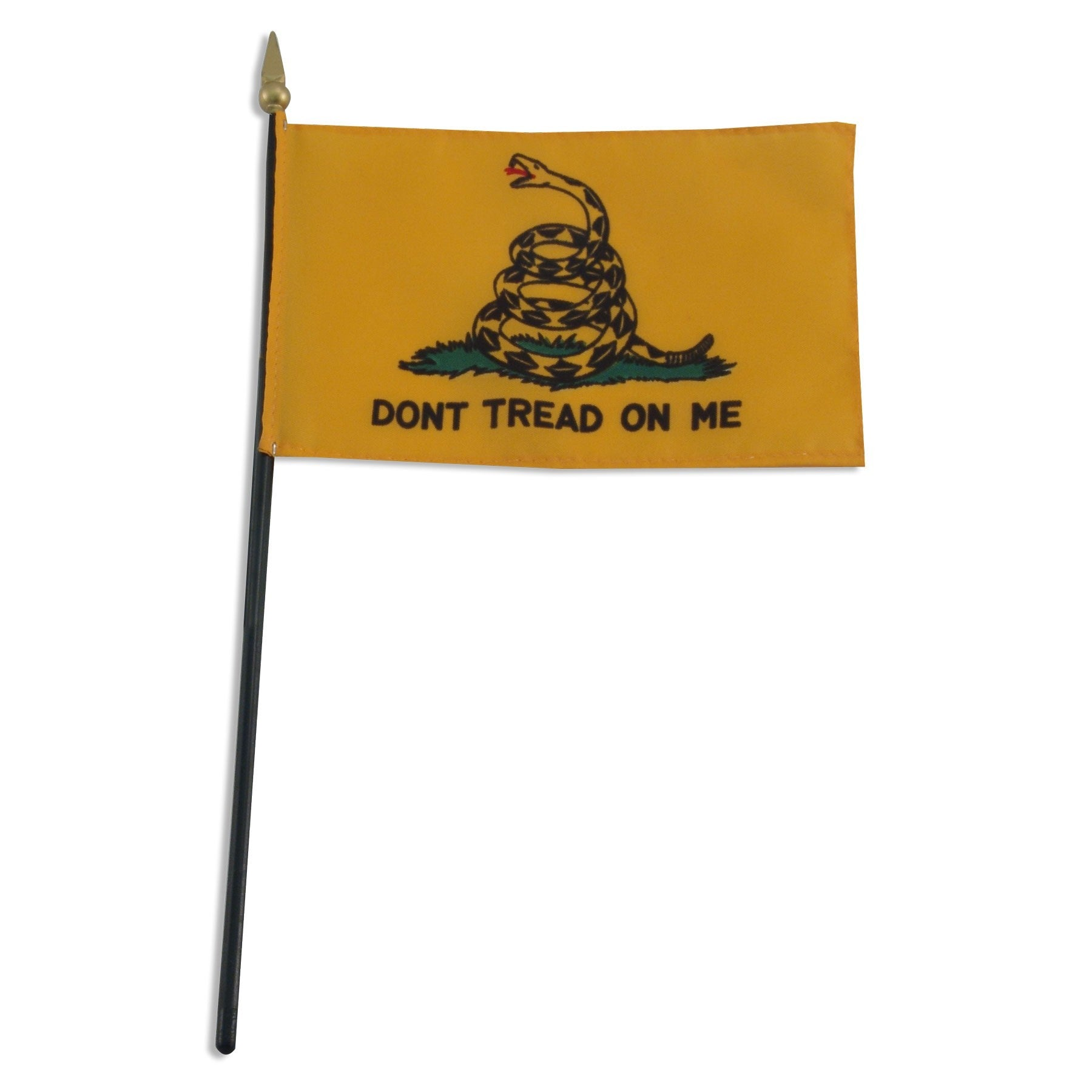 "Histoical Gadsden ""Don't Tread on Me"" 4"" x 6"" Miniature Handheld Flags"