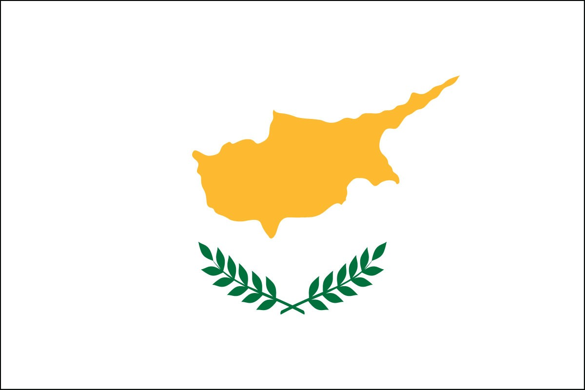 Cyprus 2' x 3' Indoor Polyester Flag