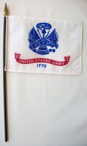 "US Army 4"" x 6"" Miniature Flags"