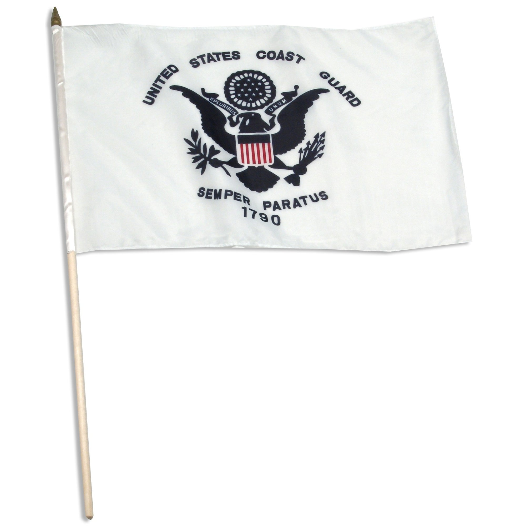 "US Coast Guard Mounted 12"" x 18"" Flags"