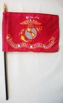 "US Marine Corps 4"" x 6"" Miniature Flags"