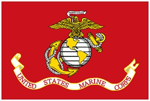 "US Marine Corps Mounted 12"" x 18"" Flags"