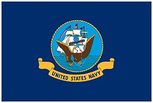 US Navy 2' x 3' Indoor Polyester Flags