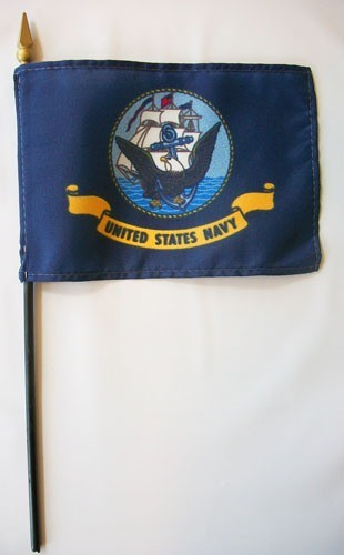 "Eder US Navy 4"" x 6"" Miniature Flags"