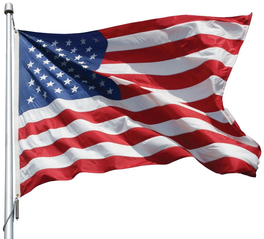 U.S Flag Embroidered Star High Quality Outdoor Nylon 2.5' x 4'