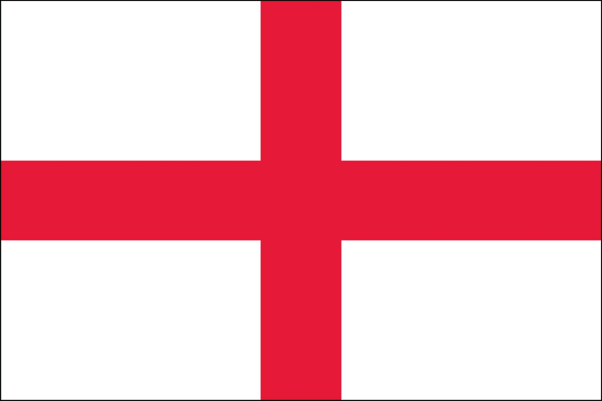 Saint George's Cross  2' x 3' Indoor Polyester Flag
