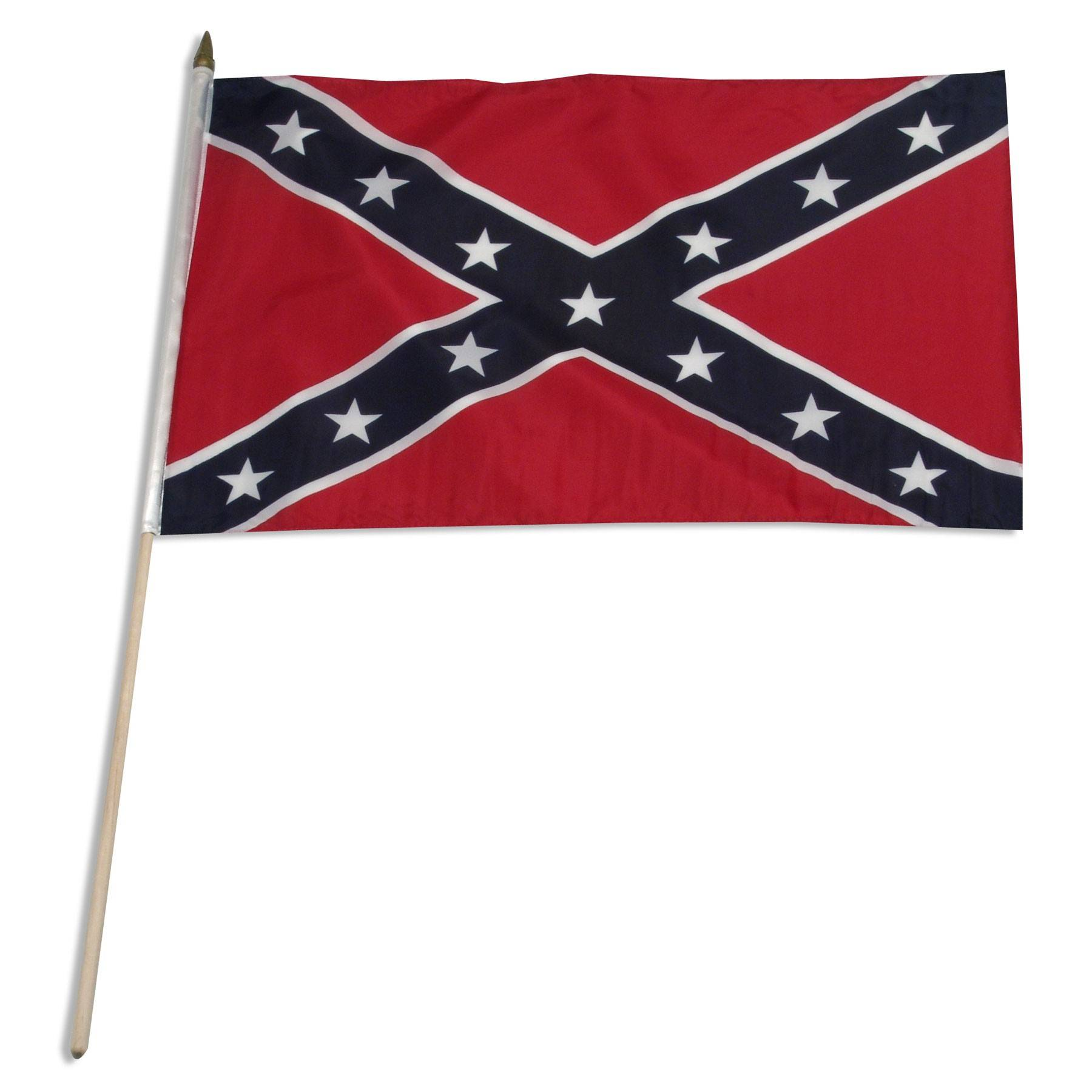 "Rebel Flag - Confederate Flag  12"" x 18"" Mounted Flags"
