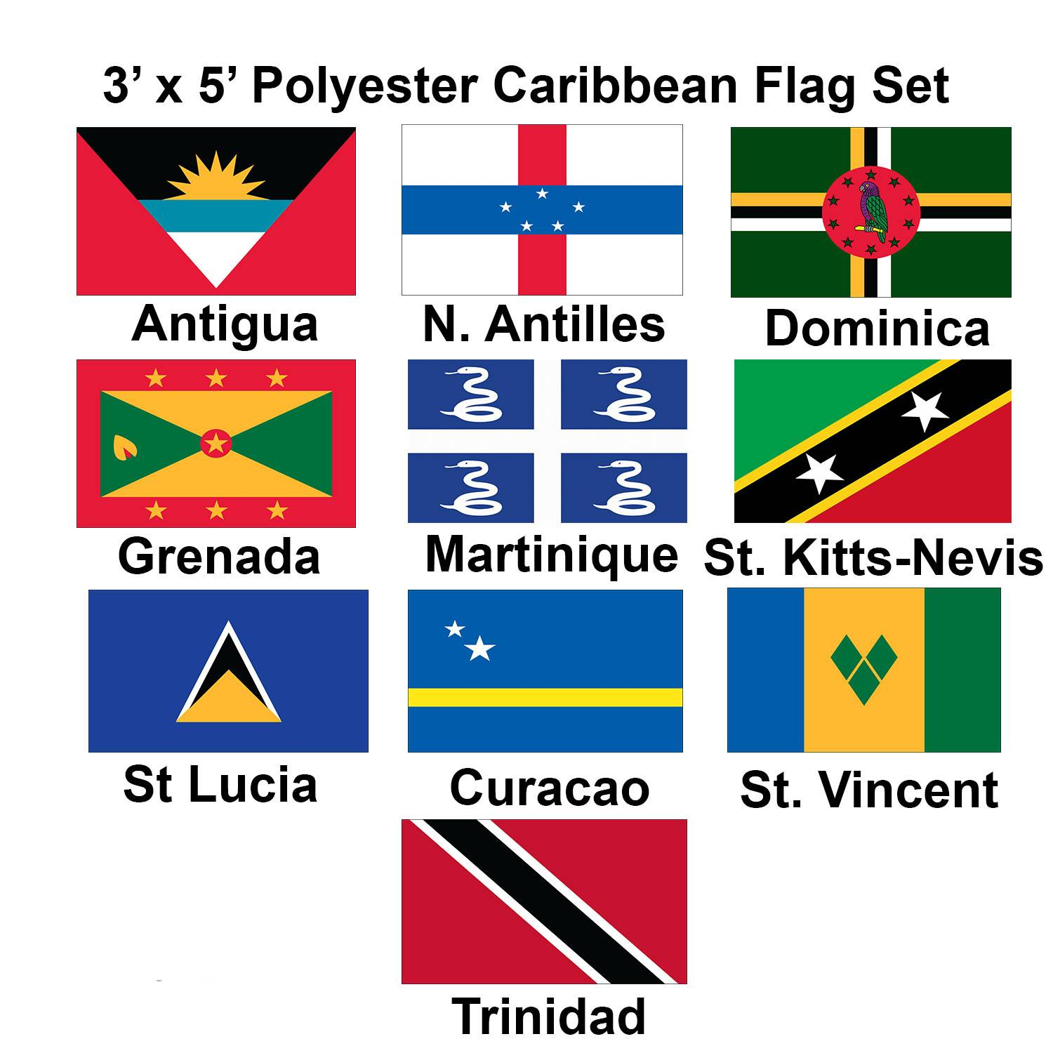 Caribbean flags for sale by 1-800 Flags