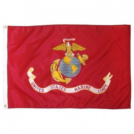 US Marine Corps 3' x 5'  Indoor Polyester Flags