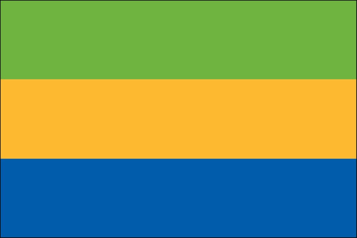 Gabon 2' x 3' Indoor Polyester Flag
